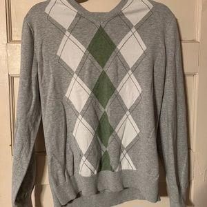 Banana Republic plaid golf sweater